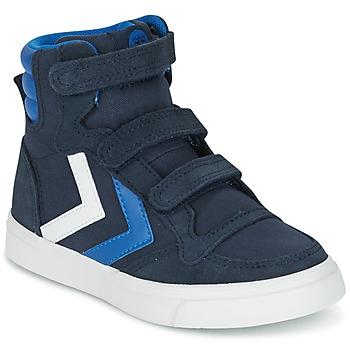 Zapatos Niños Zapatillas altas Hummel STADIL CANVAS HIGH JR Azul / Blanco