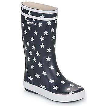 Zapatos Niños Botas de agua Aigle LOLLY POP PRINT Marino