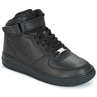 Zapatos Niños Zapatillas altas Nike AIR FORCE 1 MID 06 JUNIOR Negro