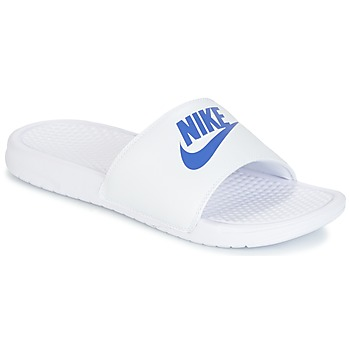 Zapatos Hombre Zuecos (Mules) Nike BENASSI JUST DO IT Blanco / Azul