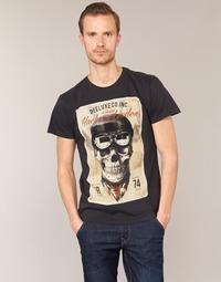 textil Hombre camisetas manga corta Deeluxe CLEM Gris / Beige