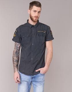 textil Hombre camisas manga corta Deeluxe BURTY Gris