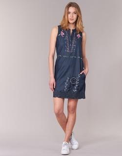 textil Mujer vestidos cortos Desigual LIRASE Azul