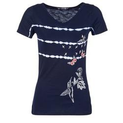 textil Mujer camisetas manga corta Desigual TIDEREA Marino