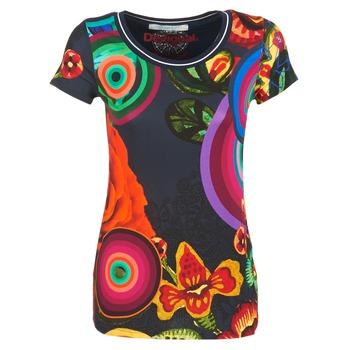 textil Mujer camisetas manga corta Desigual GRIZILLO Multicolor
