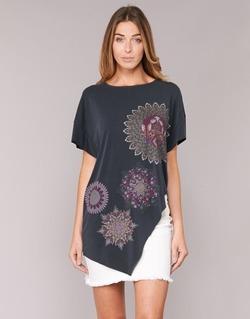 textil Mujer túnicas Desigual GRIZULLO Negro