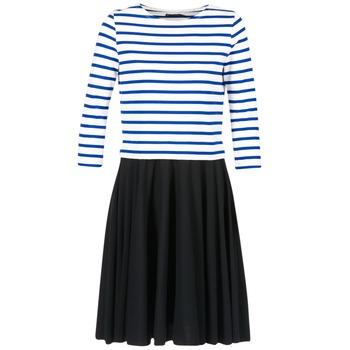 textil Mujer vestidos cortos Petit Bateau FINALLY Blanco / Azul