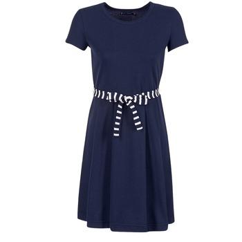 textil Mujer vestidos cortos Petit Bateau FLARE Marino