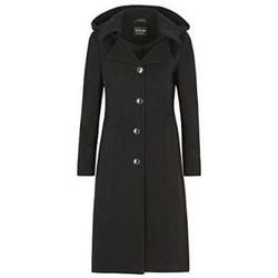 textil Mujer plumas De La Creme Abrigo de invierno de cachemira Black
