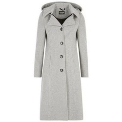 textil Mujer plumas De La Creme Abrigo de invierno de cachemira Grey