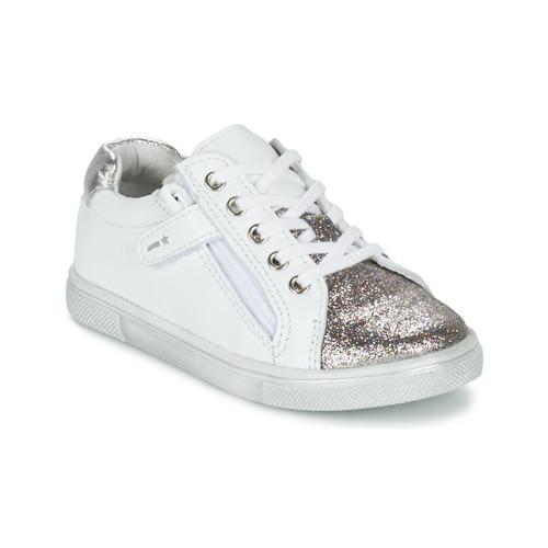 Zapatos Niño Zapatillas bajas Babybotte KRAZY Blanco / Plata