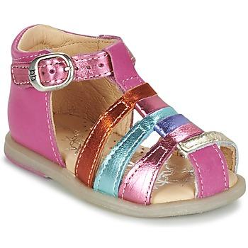 Zapatos Niña Bailarinas-manoletinas Babybotte TIKALOU Rosa / Multicolor