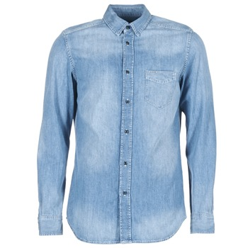 textil Hombre camisas manga larga Diesel D CARRY Azul