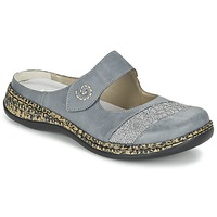 Zapatos Mujer Zuecos (Mules) Rieker GRILOPI Azul / Gris