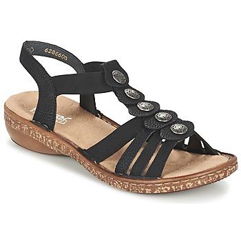 Zapatos Mujer Sandalias Rieker MECHAROLO Negro