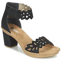 Zapatos Mujer Sandalias Rieker POTIRASSE Negro