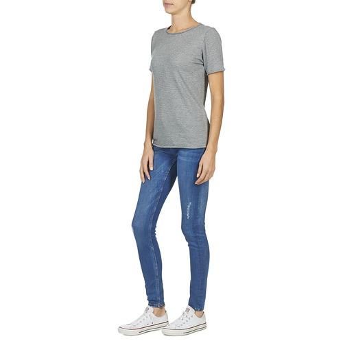 Manga Attitude Gris Camisetas Corta Textil Genius Mujer Casual A5LR34j