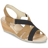 Zapatos Mujer Sandalias Rondinaud COLAGNE Beige / Negro