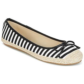 Zapatos Mujer Bailarinas-manoletinas Wildflower Luck Negro / Blanco