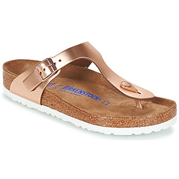 Zapatos Mujer Chanclas Birkenstock GIZEH SFB Bronce