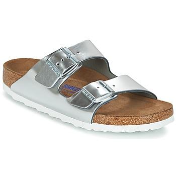 Zapatos Mujer Zuecos (Mules) Birkenstock ARIZONA SFB Plata