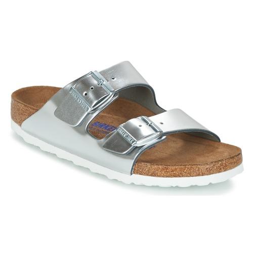 Cómodo y bien parecido Zapatos especiales Birkenstock ARIZONA SFB Plata
