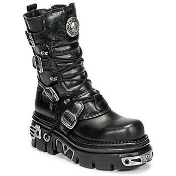 Zapatos Mujer Botas de caña baja New Rock NEMESIS Negro