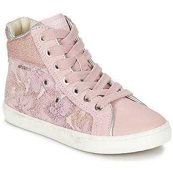 Zapatos Niña Zapatillas altas Geox J KIWI G. H Rosa