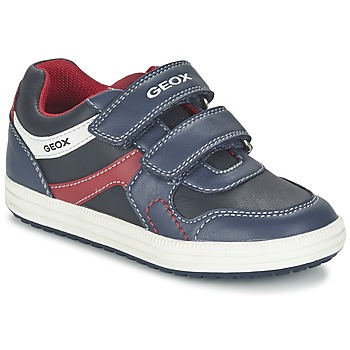 Zapatos Niño Zapatillas bajas Geox J VITA A Marino / Rojo