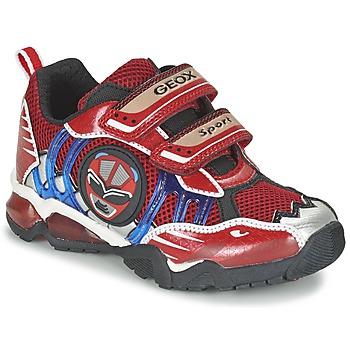 Zapatos Niño Zapatillas bajas Geox J SHUTTLE B. B Rojo