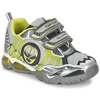Zapatos Niño Zapatillas bajas Geox J SHUTTLE B. B Gris / Limón
