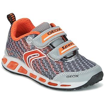 Zapatos Niño Zapatillas bajas Geox J SHUTTLE B.A Gris / Naranja