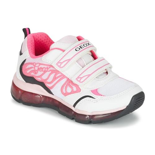 Zapatos Niña Zapatillas bajas Geox J ANDROID G. A Blanco / Rosa