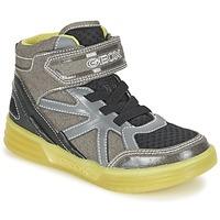 Zapatos Niño Zapatillas altas Geox J ARGONAT B. B Gris / Limón