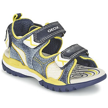 Zapatos Niño Sandalias de deporte Geox J BOREALIS B. D Marino / Limón