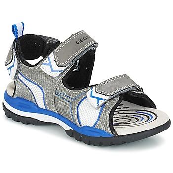 Zapatos Niño Sandalias de deporte Geox J BOREALIS B. D Gris / Azul