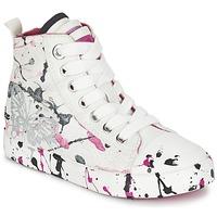 Zapatos Niña Zapatillas altas Geox J CIAK G. C Blanco / Rosa