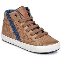 Zapatos Niño Zapatillas altas Geox J ALONISSO B. B COGNAC