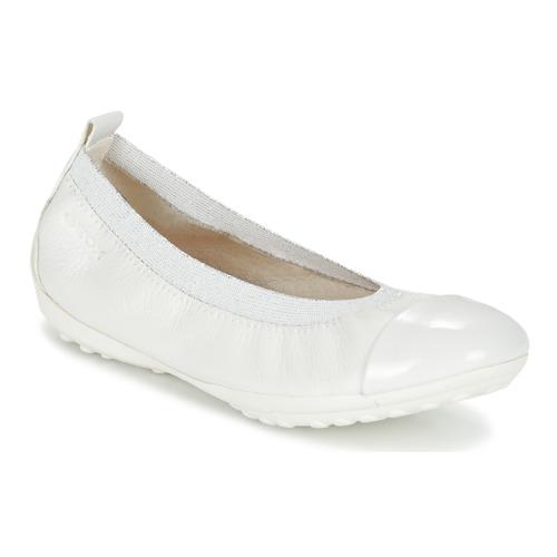 Zapatos Niña Bailarinas-manoletinas Geox J PIUMA BALL B Blanco