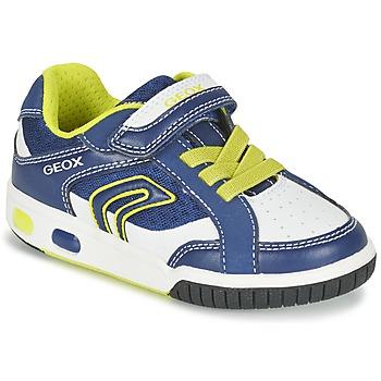 Zapatos Niño Zapatillas bajas Geox J GREGG A Azul / Limón