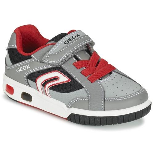 Zapatos Niño Zapatillas bajas Geox J GREGG A Gris / Rojo