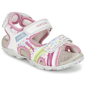Zapatos Niña Sandalias de deporte Geox J S.ROXANNE A Blanco / Rosa