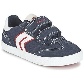 Zapatos Niño Zapatillas bajas Geox J KIWI B. M Marino / Rojo