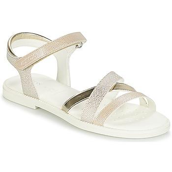 Zapatos Niña Sandalias Geox J S.KARLY G.D Beige / Oro