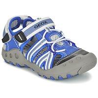 Zapatos Niño Sandalias de deporte Geox J SAND.KYLE C Azul / Blanco