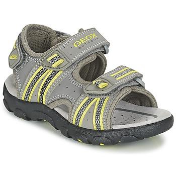 Zapatos Niño Sandalias de deporte Geox J S.STRADA A Gris / Verde