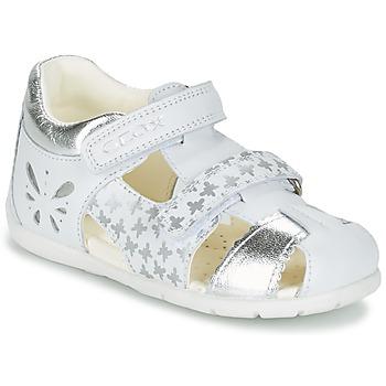 Zapatos Niña Sandalias Geox B KAYTAN G. C Blanco / Plata