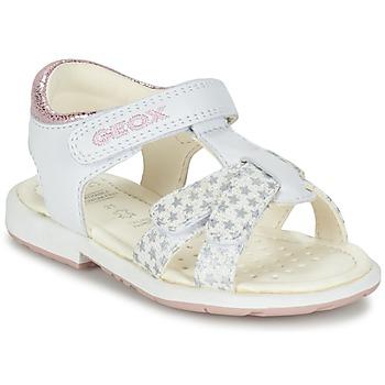 Zapatos Niña Sandalias Geox B SAN.VERRED D Blanco