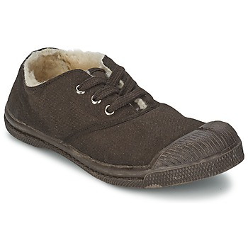 Zapatos Niños Zapatillas bajas Bensimon TENNIS FOURREES Chocolate