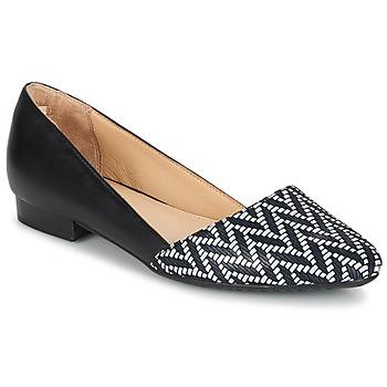 Zapatos Mujer Bailarinas-manoletinas Hush puppies JOVANNA Negro / Blanco
